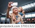 woman, selfie, smartphone 37031322