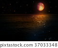 The moon in the night sky 37033348