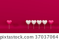 pink lollipop heart shape for card Valentine's day 37037064