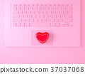 keyboard laptop for card Valentine's day 37037068