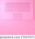keyboard laptop for card Valentine's day 37037071