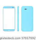 smart phone blue color mock up  37037092