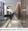 luxury hotel reception and lounge restaurant 37037212
