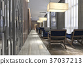 luxury hotel reception and lounge restaurant 37037213
