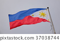 Philippines flag waving in the sky 37038744