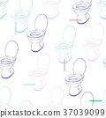 flush toilet ,seamless pattern vector. 37039099