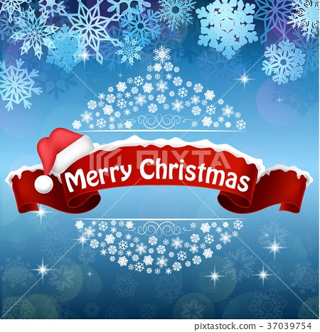 Merry Christmas Celebration Background With Red Re Stock Illustration 37039754 Pixta