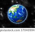 earth, globe, light 37040994