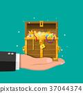 hand chest treasure 37044374