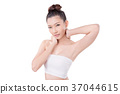 Beautiful woman over white background 37044615