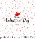 valentines, heart, confetti 37045353