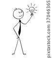 businessman, light, cartoon 37046365