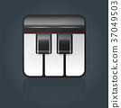 Vector grand piano icon for music software 37049503