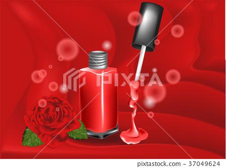 nail polish and rose 37049624