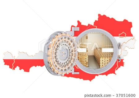 Golden reserves of Austria concept, banking vault 37051600