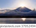 富士山 钻石富士 狸子湖 37052494