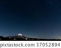 겨울 대산과 밤하늘 37052894