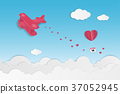Love and Valentines day theme background.  37052945