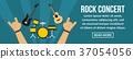 rock concert banner 37054056