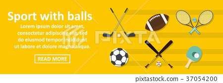 Sport with balls banner horizontal concept 37054200