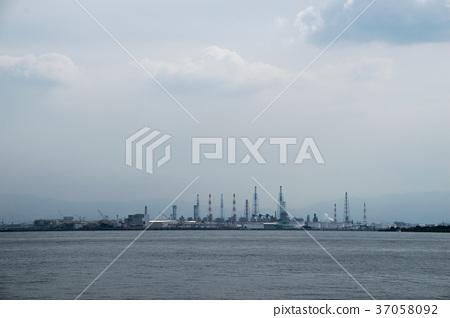 Industrial zone seen from Osaka Nanko 37058092