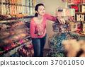 girl, buying, candies 37061050