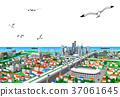 城镇 城市 市容 37061645
