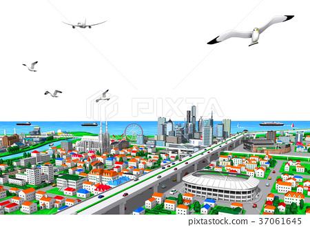 town, city, cityscape 37061645