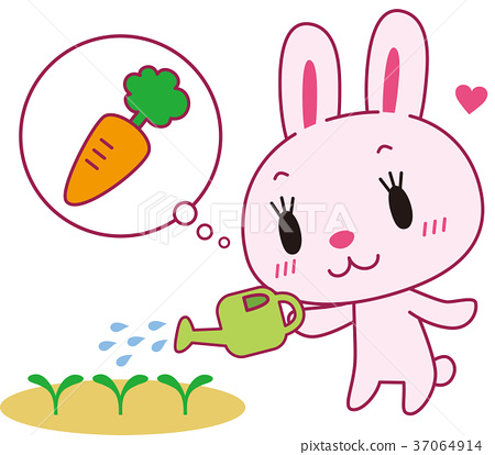 兔 兔子 一根胡蘿蔔 37064914