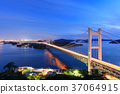 great seto bridge, night scape, night scene 37064915