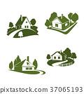 房屋 房子 绿色 37065193