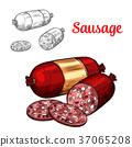meat sausage sketch 37065208