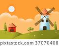 farm landscape Vector texture style concept 37070408