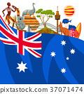 Australia background design. Australian 37071474