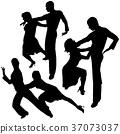 Latino Dance Silhouettes 37073037