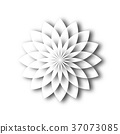 White paper lotus blossom. Design element with 3D 37073085