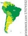 america, south, map 37074502
