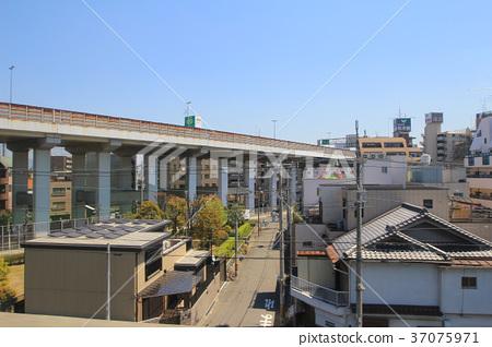 osaka city view by train 37075971