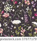 seamless, background, floral 37077179