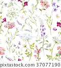 seamless, background, floral 37077190