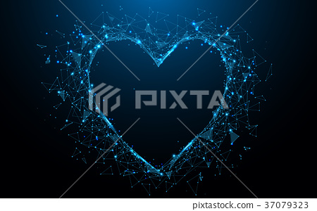 Abstract Heart icon form lines and triangles 37079323