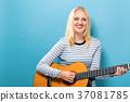 woman, women, guitar 37081785