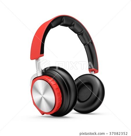 3D Rendering headphones isolated on white 37082352