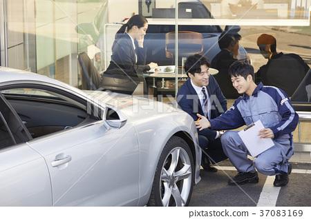 작업인,비즈니스우먼,고객,상담,한국인 37083169