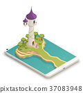 Fairy Tale Smartphone Isometric Composition 37083948