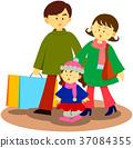 가족과 쇼핑 37084355