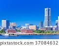 神奈川横滨港未来的风景 37084632