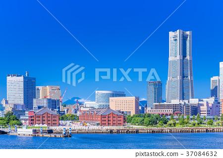神奈川橫濱港未來的風景 37084632