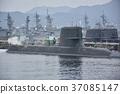해상 자위대 · 정박중인 잠수함과 구축함 37085147