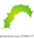 แผนที่จังหวัดโคจิ 37086177
